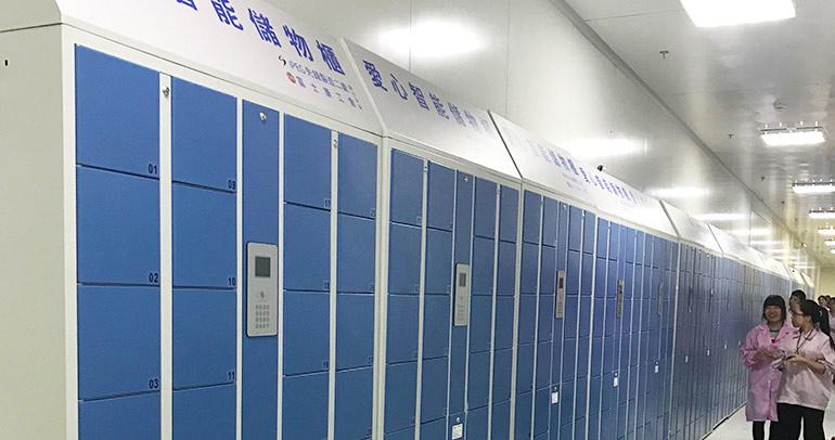 富士康使用员工储物柜