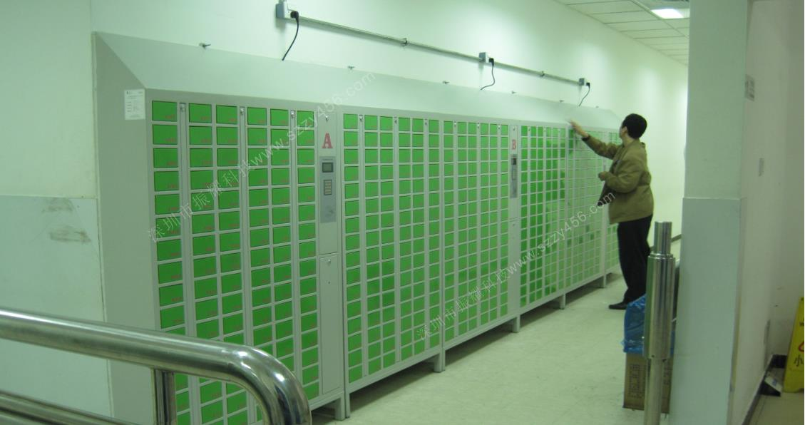 天津蒙牛公司电子智能手机柜应用案例