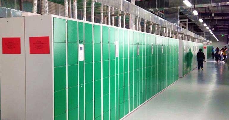 OPPO大型工厂员工鞋柜应用案例
